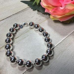 Sterling Silver 925 Full Beads Bracelet